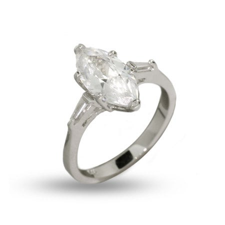1.5 Carat Marquise Cut CZ Engagement Ring | Eve's Addiction®