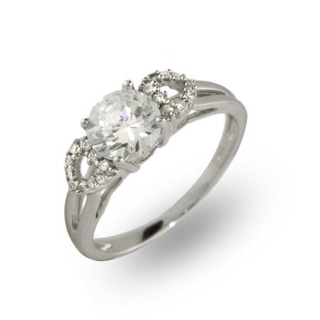Solitare 1.25 Carat CZ Ring with Hearts | Eve's Addiction®
