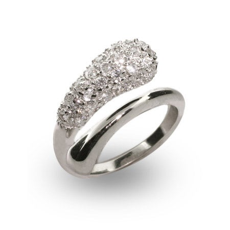 Designer Style Pave CZ Teardrop Ring | Eve's Addiction®
