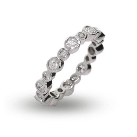Designer Style CZ Bubbles Stackable Ring | Eve's Addiction