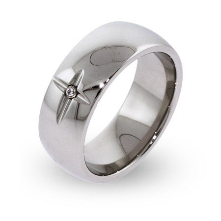 Engravable Cross Ring with Cubic Zirconia | Eve's Addiction