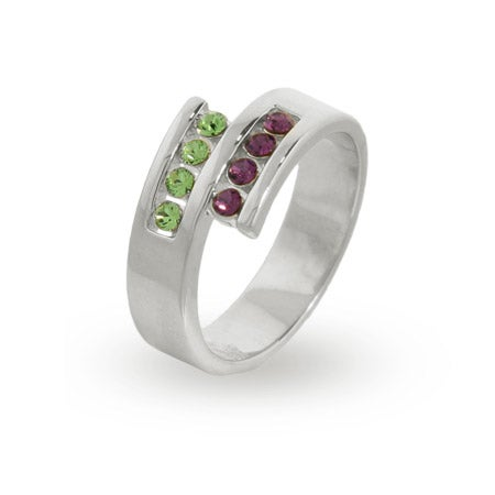 8 Stone Personalized Austrian Crystal Couples Ring | Eve's Addiction®