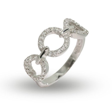 Triple CZ Circles Ring in Sterling Silver | Eve's Addiction®
