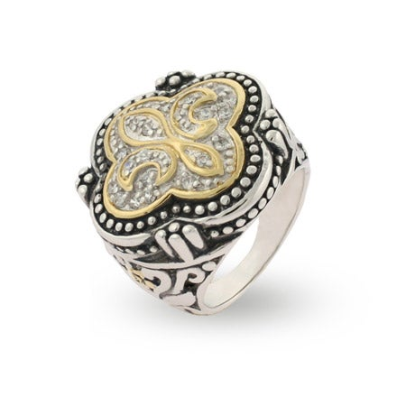 Designer Inspired Bali Fleur de Lis Sterling Silver Ring | Eve's Addiction®