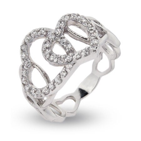Linked Hearts Friendship Ring | Eve's Addiction®