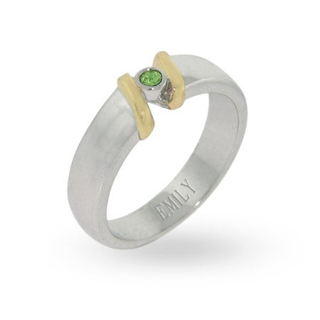 Sterling Silver Swarovski Crystal Single Birthstone Ring | Eve's Addiction®