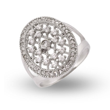 Vampire Style CZ Sterling Silver Engagment Ring | Eve's Addiction®