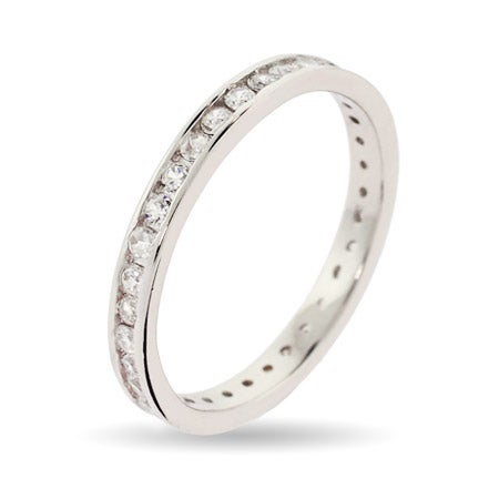 Extra Thin Diamond CZ Stackable Band | Eve's Addiction®