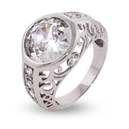 Celebrity Inspired CZ Engagement Ring | Eve's Addiction®