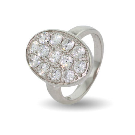 Movie Inspired Oval Pave CZ Wedding Ring | Eve's Addiction®