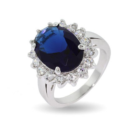Royalty Inspired Sapphire CZ Engagement Ring | Eve's Addiction®