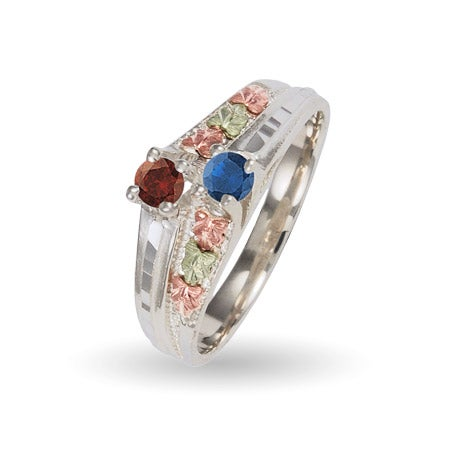 Sterling Silver Ladies 2 Birthstone Bypass Ring by Black Hills Gold | Eve's Addiction®