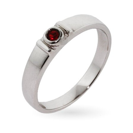 Stackable Sterling Silver Custom Birthstone Ring | Eve's Addiction®