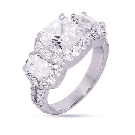 Cushion Cut Past Present Future CZ Engagement Ring | Eve's Addiction®