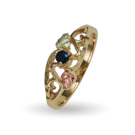 Black Hills Gold Single Stone Birthstone Ring in 10K Yellow Gold | Eve's Addiction®