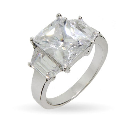 Celebrity Style Super Bling CZ Engagement Ring | Eve's Addiction®