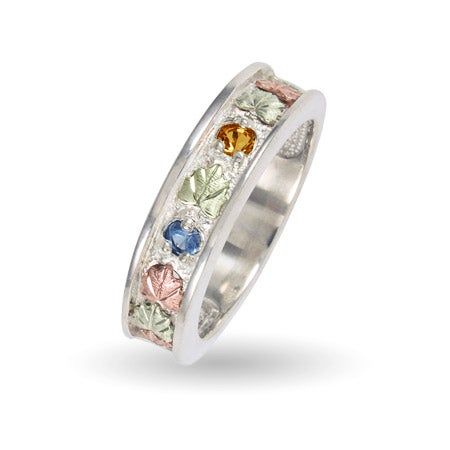 Black Hills Gold 2 Stone Family Birthstone Ring in Sterling Silver | Eve's Addiction®