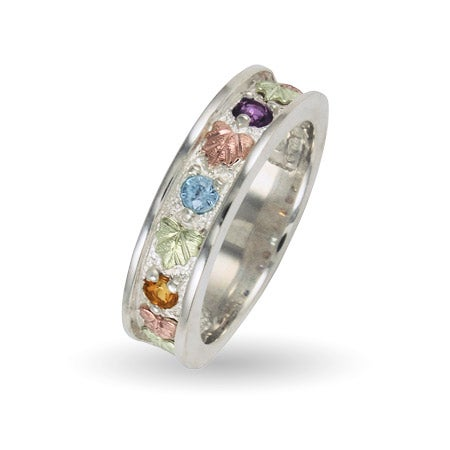 3 Stone Birthstone Family Ring in Silver by Black Hills Gold Jewelers | Eve's Addiction®