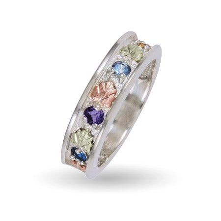 4 Birthstone Family Ring in Sterling Silver by Black Hills Gold | Eve's Addiction®