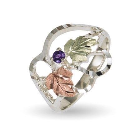 Women's Custom Birthstone Ring in Sterling Silver by Black Hills Gold | Eve's Addiction®