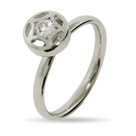 CZ Star Silver Stackable Ring | Eve's Addiction®