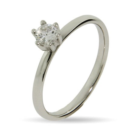 Brilliant Cut CZ Stackable Ring | Eve's Addiction®