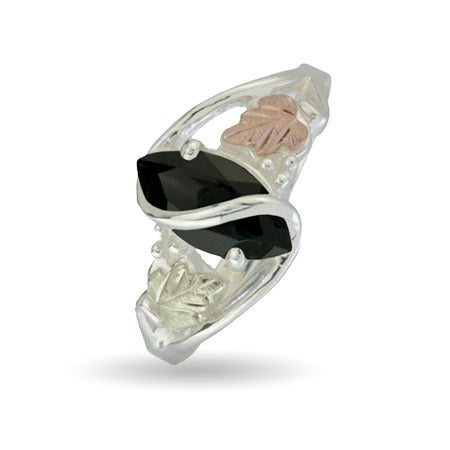 Black Hills Gold Sterling Silver Onyx Ring | Eve's Addiction®