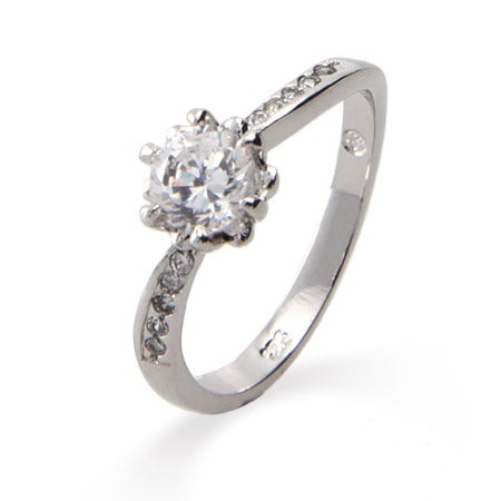 Classic Round Cut CZ Promise Ring | Eve's Addiction®