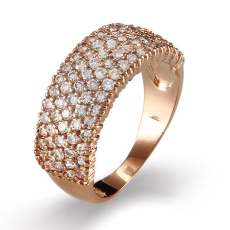 Five Row CZ Rose Gold Vermeil Ring | Eve's Addiction®