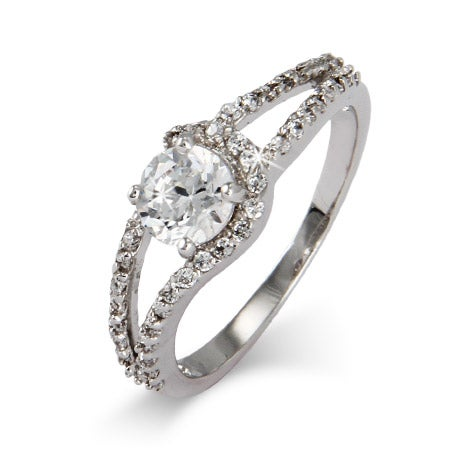 Sterling Silver and CZ Round Cut Promise Ring | Eve's Addiction