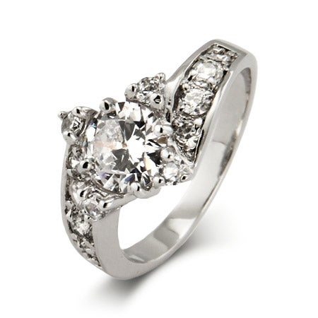 Elegant CZ Engagement Ring | Eve's Addiction®
