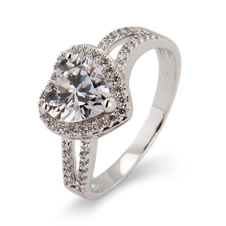Beautiful Heart CZ Promise Ring | Eve's Addiction®