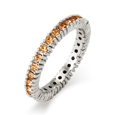 Sparkling November Birthstone Stackable Ring | Eve's Addiction®