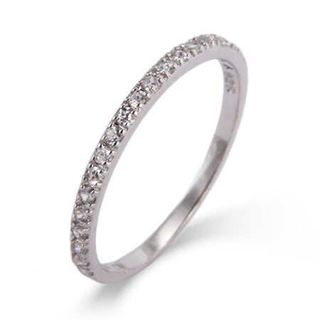 Thin Pave CZ Stackable Band | Eve's Addiction®