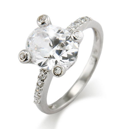 Vintage Four Prong Bezel Set Oval CZ Ring | Eve's Addiction®