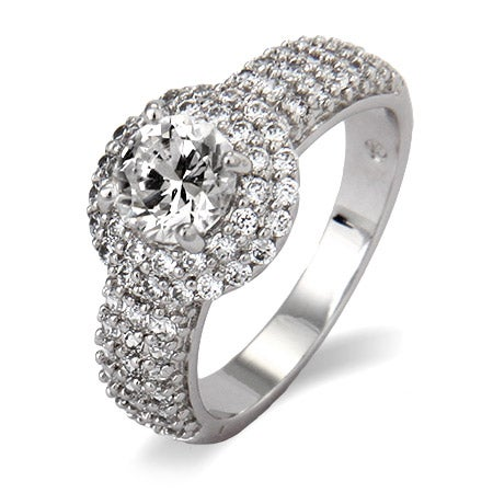 Sparkling Pave with Brilliant Cut CZ Right Hand Ring | Eve's Addiction®