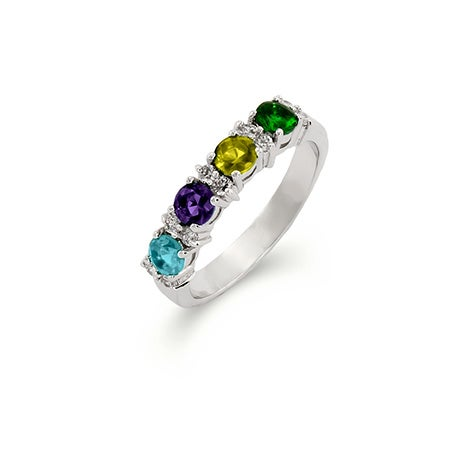 Close to the Heart 4 Stone Birthstone Eternity Band | Eve's Addiction®