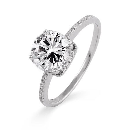 2 Carat Brilliant Cut CZ Engagement Ring | Eve's Addiction®