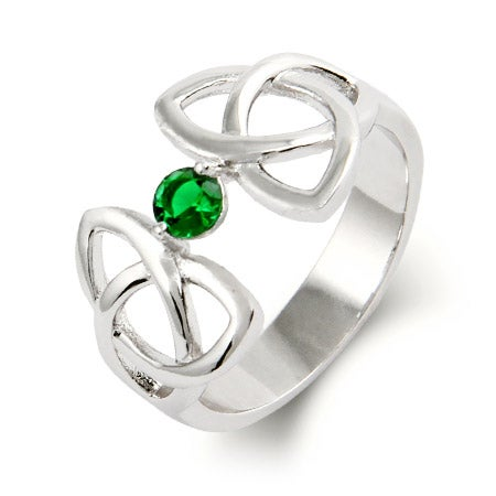 1 Stone Celtic Trinity Custom Birthstone Ring | Eve's Addiction®