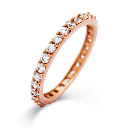 Rose Gold CZ Eternity Band | Eve's Addiction®