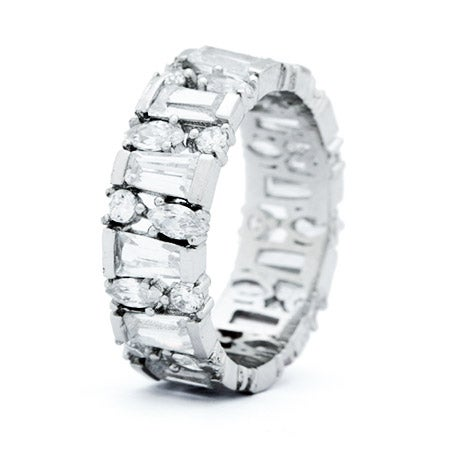 Multi Shape Cubic Zirconia Eternity Band | Eve's Addiction®