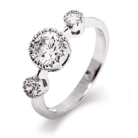 Brilliant Cut Past Present Future CZ Promise Ring | Eve's Addiction®