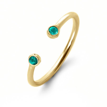 Gold Dual Birthstone Ring | Eve's Addiction®