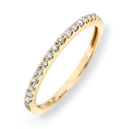 14K Gold Diamond Thin Promise Ring | Free Shipping
