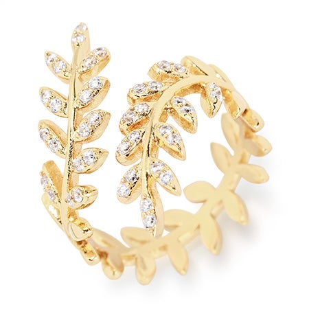gorjana Olympia Shimmer Wrap Ring in Gold