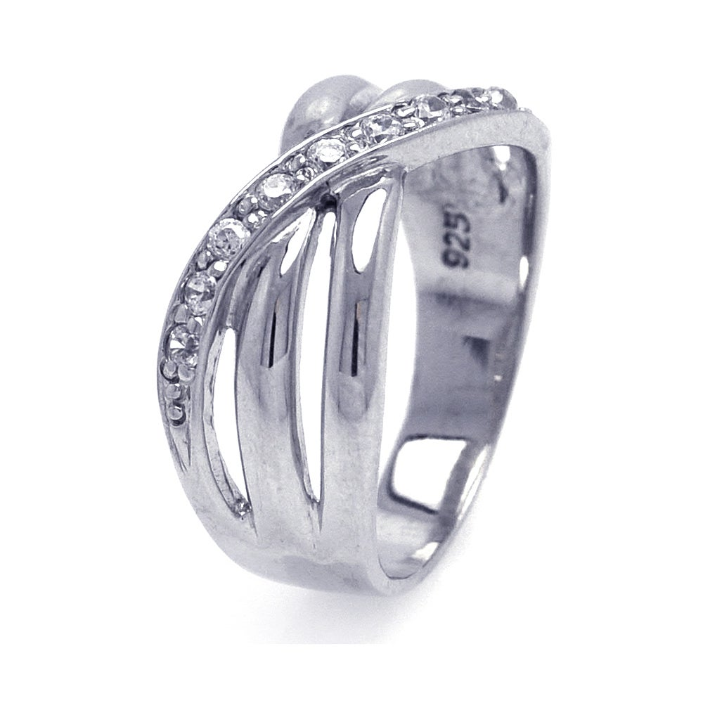 Three Row Overlapping CZ Ring | Eve's Addiction®