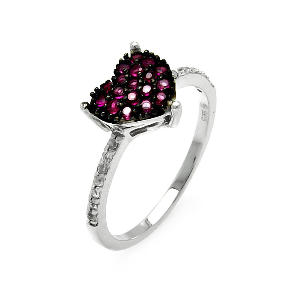 shaped pave set pink cz promise ring s addiction 174