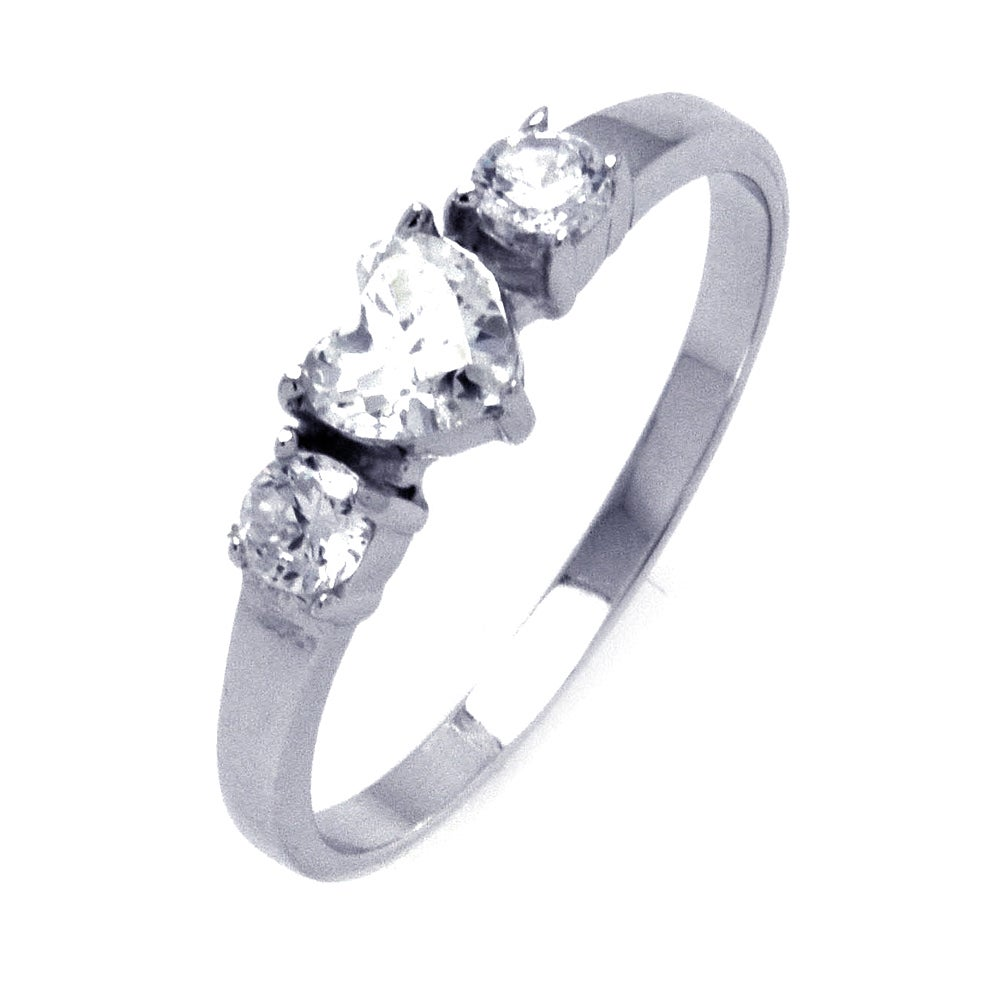 Heart Shaped Past, Present, Future Promise Ring | Eve's Addiction®