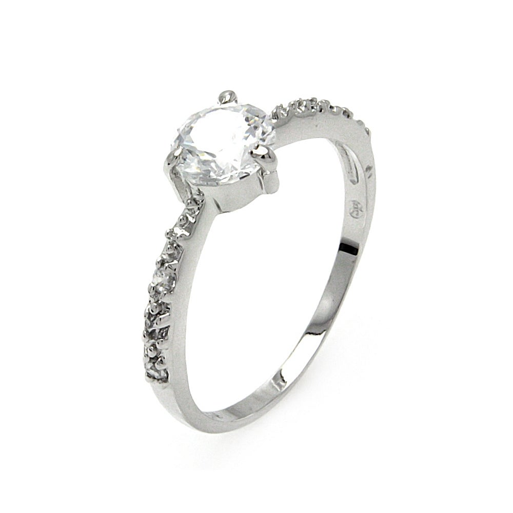 Elegant Single Brilliant Cut CZ Promise Ring | Eve's Addiction®