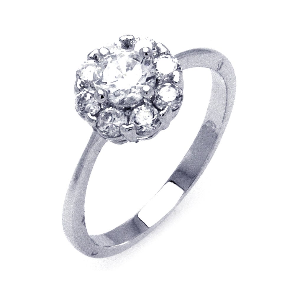 Sparkling CZ Flower Ring | Eve's Addiction®